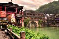Alte Häuser in Fenghuang-Grafschaft in Hunan, China Stockfotografie