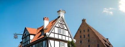 Alte Häuser in Gdansk, Polen, Europa Stockfotografie