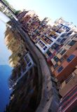 Alte Häuser in Girona Lizenzfreie Stockbilder