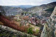 Alte Häuser im Berg Lizenzfreies Stockbild