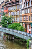 Alte Häuser im Bezirk von La Petite France in Straßburg Stockbilder