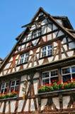 Alte Häuser im Bezirk von La Petite France in Straßburg Lizenzfreie Stockbilder