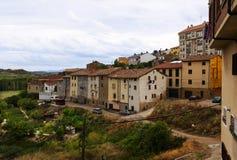 Alte Häuser im Haro Rioja Stockbild
