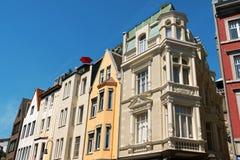 Alte Häuser in im Stadtzentrum gelegenem Aachen, Deutschland Lizenzfreie Stockbilder