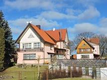 Alte Häuser, Litauen Lizenzfreie Stockfotos