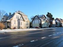 Alte Häuser, Litauen Stockfotos