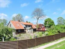 Alte Häuser, Litauen Lizenzfreie Stockbilder