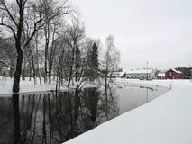 Alte Häuser, Litauen Stockfoto