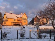 Alte Häuser, Litauen Stockfotografie