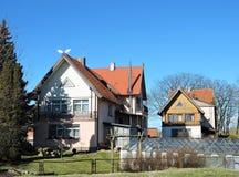 Alte Häuser, Litauen Lizenzfreies Stockbild