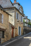 Alte Häuser, Nespouls, Correze, Limousin, Frankreich Stockbilder