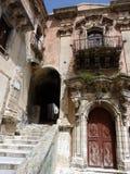 Alte Häuser in Ragusa Ibla Lizenzfreies Stockfoto