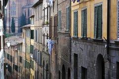 Alte Häuser in Siena, Italien Lizenzfreie Stockbilder