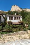 Alte Häuser vom 19. Jahrhundert in der Stadt von Melnik, Bulgarien Lizenzfreies Stockbild