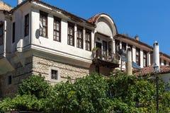 Alte Häuser vom 19. Jahrhundert in der Stadt von Melnik, Bulgarien Lizenzfreie Stockbilder