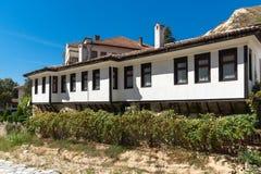 Alte Häuser vom 19. Jahrhundert in der Stadt von Melnik, Bulgarien Lizenzfreie Stockfotos