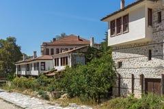 Alte Häuser vom 19. Jahrhundert in der Stadt von Melnik, Bulgarien Stockfoto