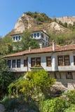 Alte Häuser vom 19. Jahrhundert in der Stadt von Melnik, Bulgarien Stockbilder