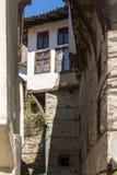 Alte Häuser vom 19. Jahrhundert in der Stadt von Melnik, Bulgarien Lizenzfreie Stockfotografie