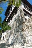 Alte Häuser vom 19. Jahrhundert in der Stadt von Melnik, Bulgarien Stockfotos