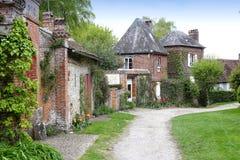 Alte Häuser von Gerberoy-Dorf Frankreich Lizenzfreie Stockfotos