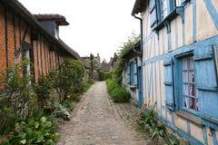 Alte Häuser von Gerberoy-Dorf Frankreich Stockfotos