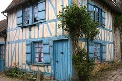 Alte Häuser von Gerberoy-Dorf Frankreich Lizenzfreie Stockbilder