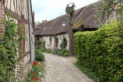 Alte Häuser von Gerberoy-Dorf Frankreich Lizenzfreies Stockbild
