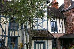 Alte Häuser von Gerberoy-Dorf Frankreich Stockfoto