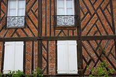Alte Häuser von Gerberoy-Dorf Frankreich Stockbild