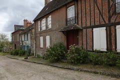 Alte Häuser von Gerberoy-Dorf Frankreich Stockfotografie
