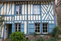 Alte Häuser von Gerberoy-Dorf Frankreich Lizenzfreies Stockfoto