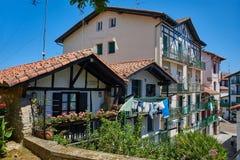 Alte Häuser von Hondarribia, Gipuzkoa, Baskenland, Spanien Lizenzfreie Stockfotografie