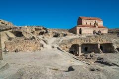 Alte Höhlestadt Uplistsikhe in der Kaukasus-Region, Georgia Stockbild