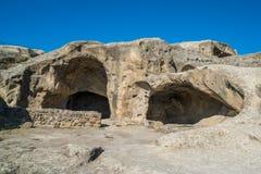 Alte Höhlestadt Uplistsikhe in der Kaukasus-Region, Georgia Stockfoto