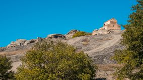 Alte Höhlestadt Uplistsikhe in der Kaukasus-Region, Georgia Stockfotografie