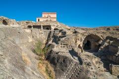 Alte Höhlestadt Uplistsikhe in der Kaukasus-Region, Georgia Stockbilder