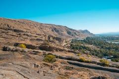Alte Höhlestadt Uplistsikhe in der Kaukasus-Region, Georgia Lizenzfreie Stockbilder