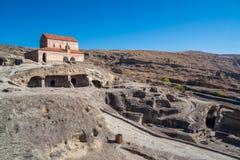 Alte Höhlestadt Uplistsikhe in der Kaukasus-Region, Georgia Lizenzfreies Stockbild