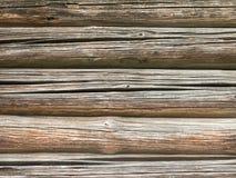 Alte hölzerne Bauholzwand Lizenzfreie Stockbilder