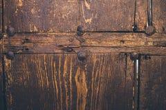 Alte hölzerne Beschaffenheit und Hintergrund Alte hölzerne Tür Lizenzfreie Stockfotografie