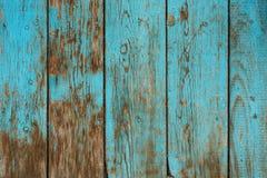 Alte hölzerne blaue Beschaffenheit Lizenzfreie Stockbilder