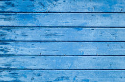 Alte hölzerne blaue gemalte Oberfläche Stockfotos