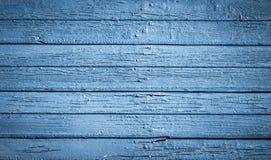 Alte hölzerne blaue gemalte Oberfläche Stockbilder