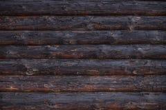 Alte hölzerne Blockhauswand, ländliche Hintergrundbeschaffenheit Lizenzfreie Stockfotografie