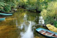 Alte hölzerne Boote Lizenzfreie Stockbilder