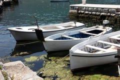 Alte hölzerne Boote Stockbild