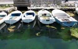 Alte hölzerne Boote Stockfotografie