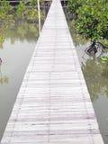 Alte hölzerne Brücke Stockbilder