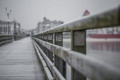 Alte hölzerne Brücke Stockbild